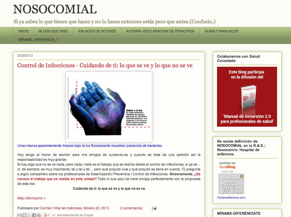 Blog nosocomial
