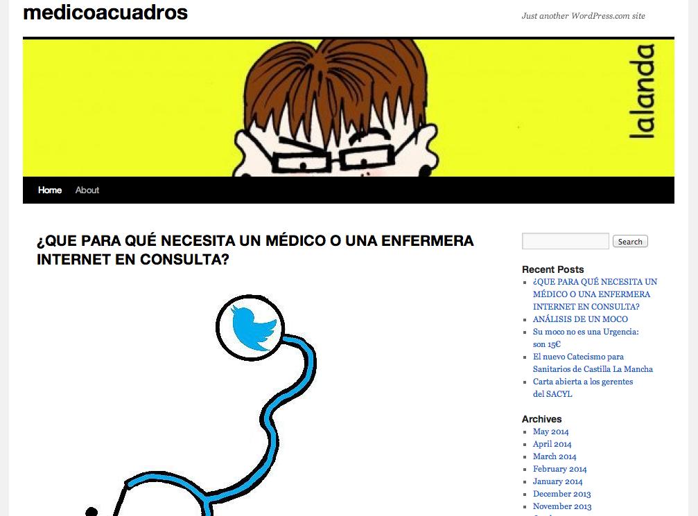 blog medico a cuadros