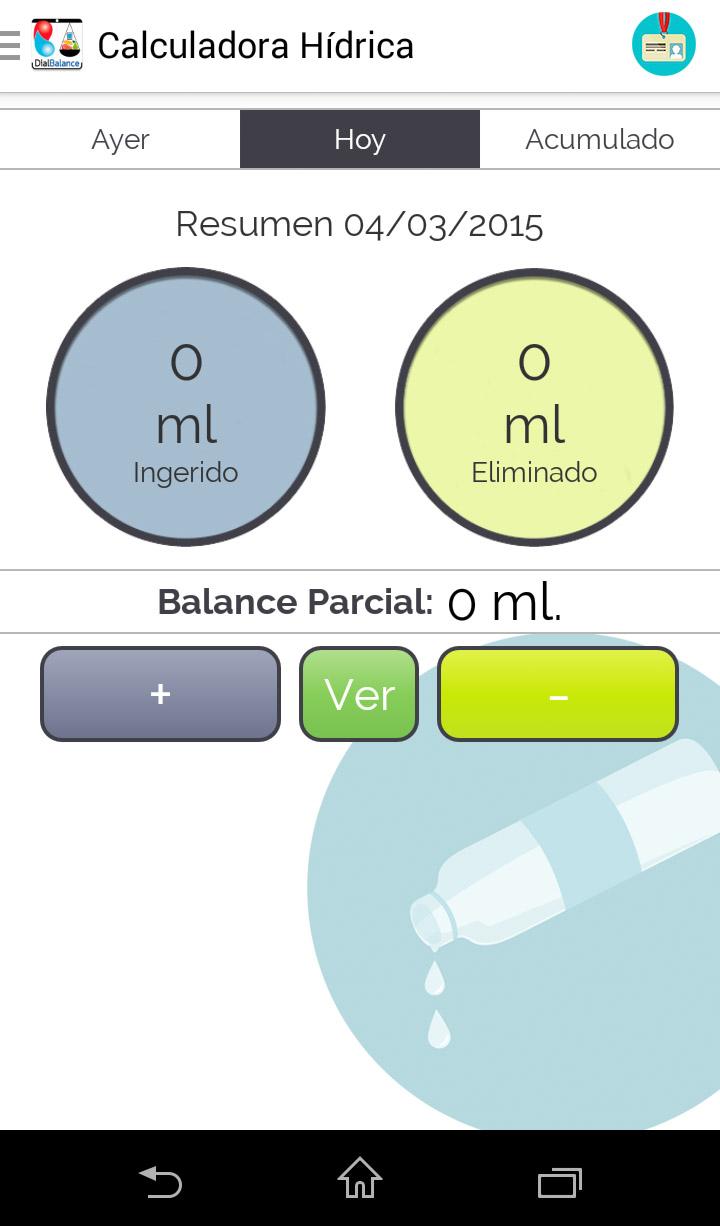calculadora hídrica