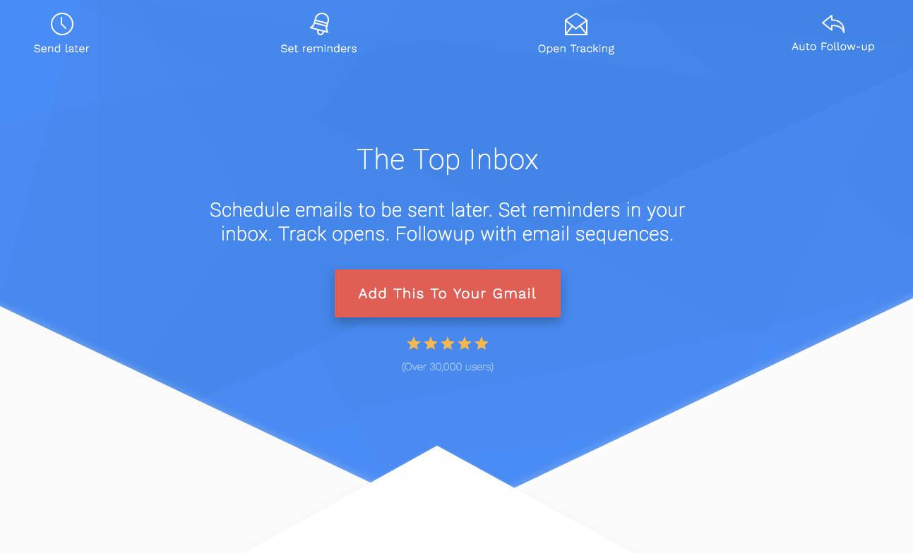 Como añadir funcionalidades avanzadas en Gmail con ThetopInbox