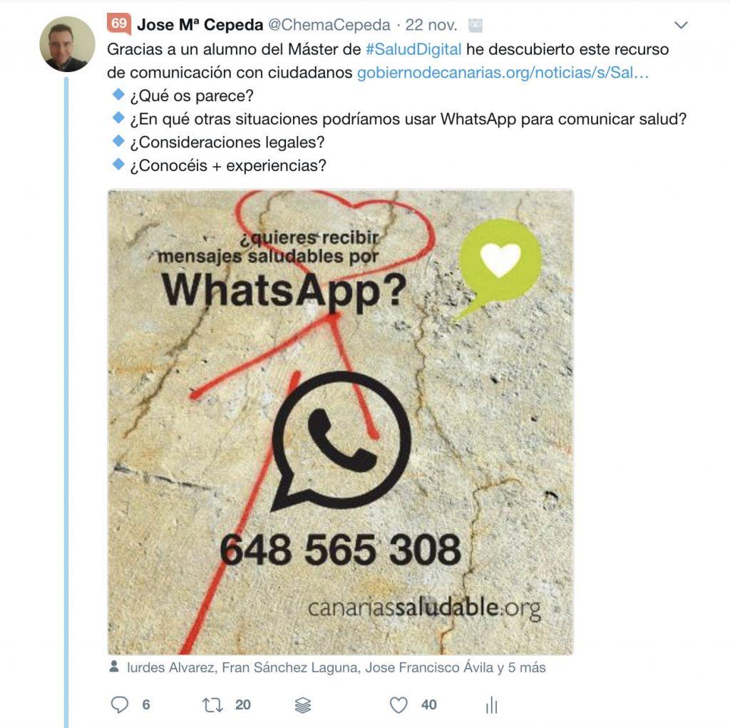 WhatsApp y Salud