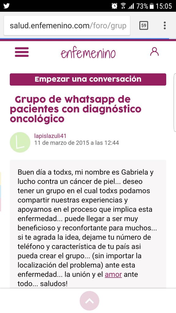 whatsapp enfemenino